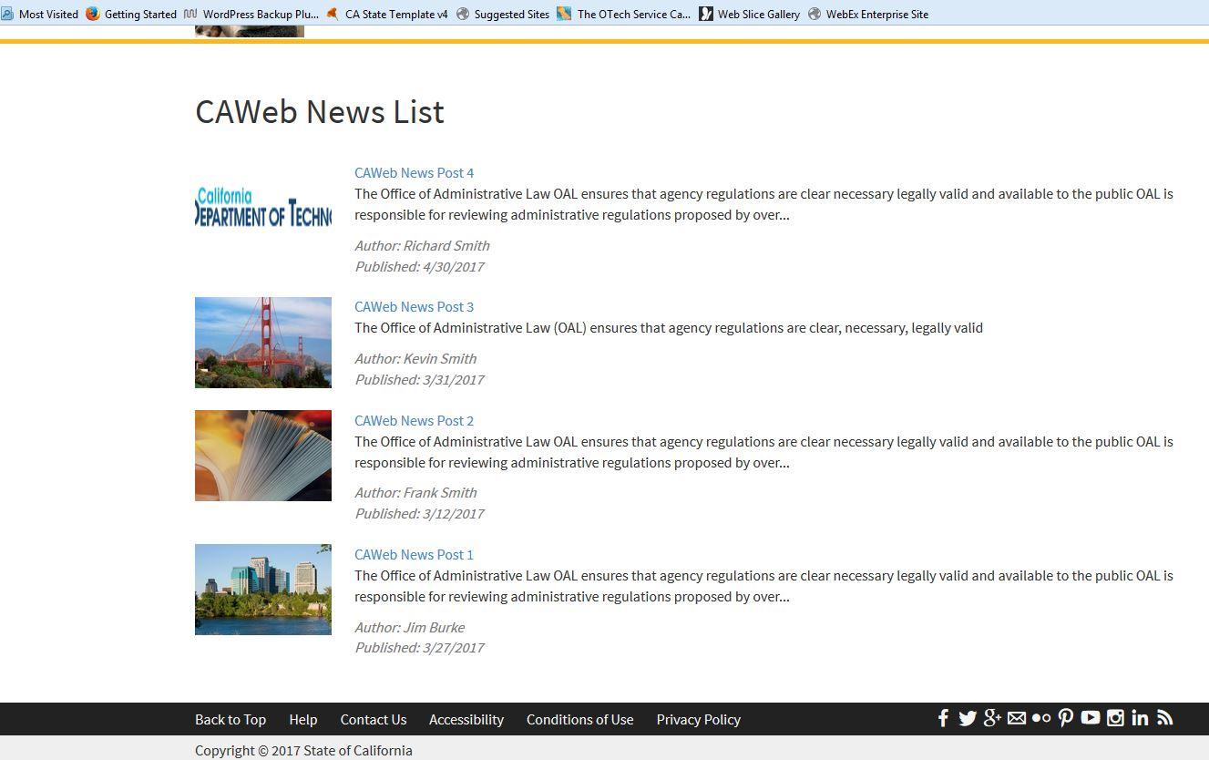 Image of a News List