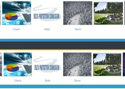 Image of 2 full width media carousels