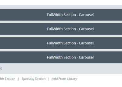 Image of a Full width section with multiple carousel modules